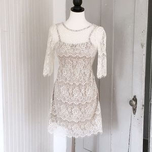 NWT Altar'd State Cream Lace Dress with Lining. S